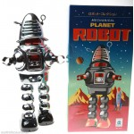 ROBBY ROBOT TIN TOY LOST IN SPACE CLOCKWORK ROBBIE SPARKS & WALKS HAHA