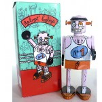 French Tin Toy Robot Bobos by Atomic Soda Clockwork