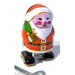 4x Santa Claus Wind Up Tin Toy