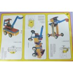 Metal Construction Set Meccano Style 168 Pieces Build 16 Models