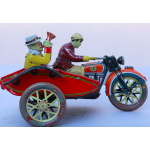 Motorbike & Sidecar Wind Up Collectable