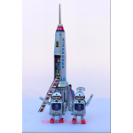 Space Rocket with Lift Action & 2 Spacemen