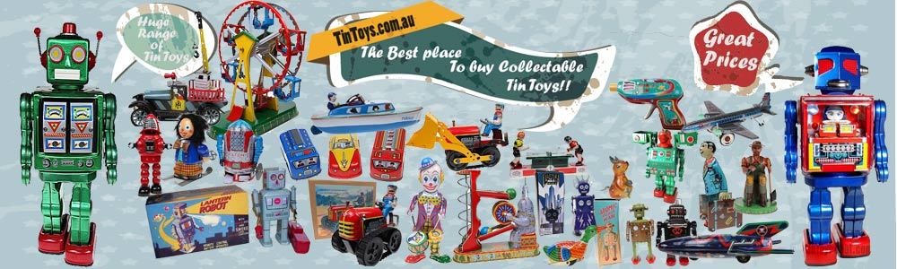 huge range of tin toys